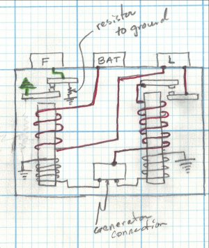 newer requlator schematic although the regulator wiring